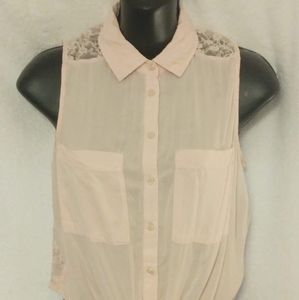 Garage Pink Button Down Size S/P